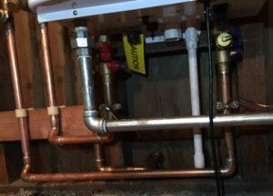Water line installation
